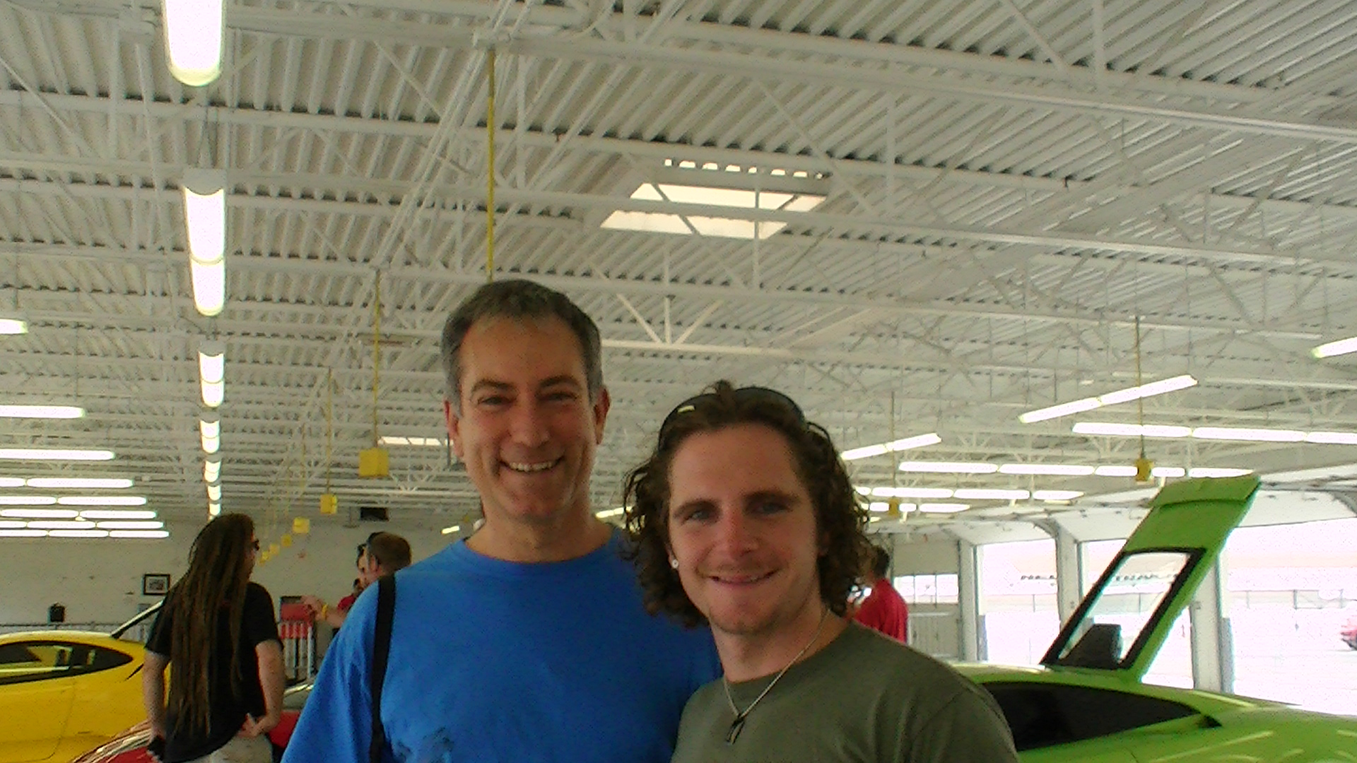 Brian Fanale and Gershon Yakir at the Exotic car racing